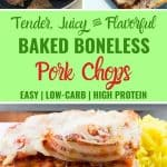 Baked boneless pork chops in tomato sauce