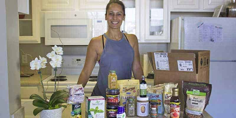 Christel with products from iHerb