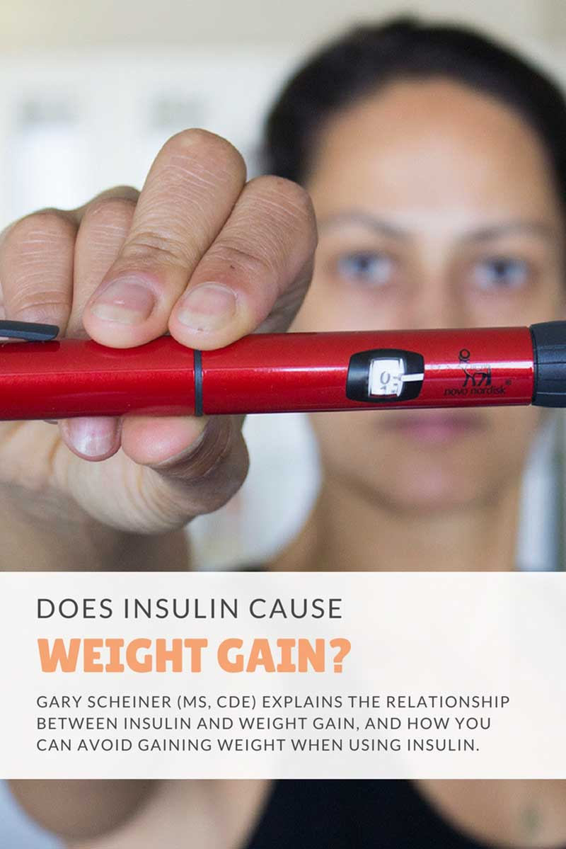 The relationship between insulin and weight gain, and how you can avoid gaining weight when using insulin. #diabetes #diabetic #insulin #diabetesdiet