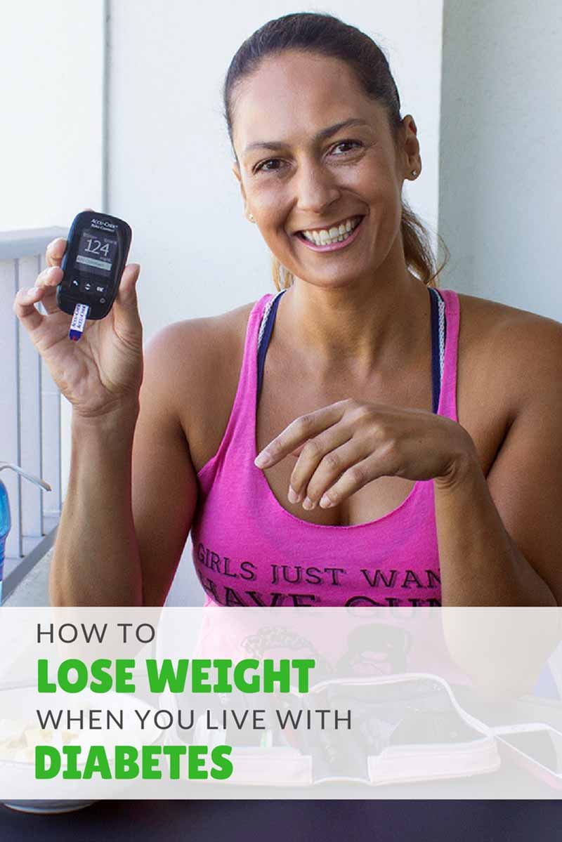 A comprehensive step-by-step guide on how to successfully lose weight when you live with diabetes. #diabetesdiet #diabeticdiet #diabetes #weightloss #diet