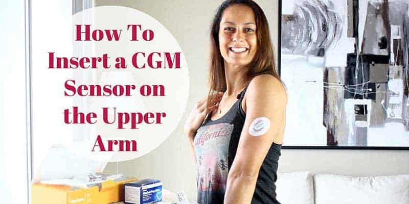 How to insert a CGM on the upper arm