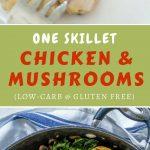 Healthy chicken and mushroom skillet