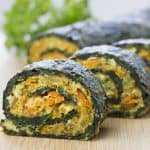 Healthy vegetarian spinach rolls
