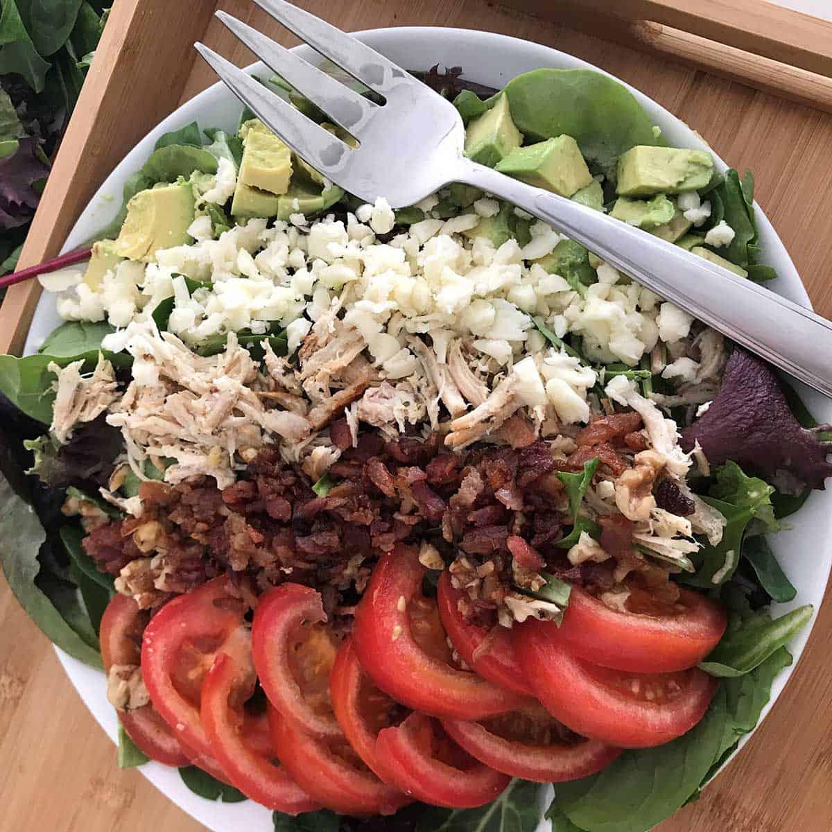 Keto Salad High Fat Low Carb Cobb Salad Diabetes Strong