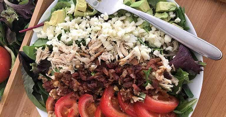 Keto Salad (High Fat, Low Carb Cobb Salad)
