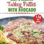 Turkey Patties with Avocado