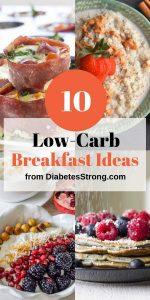 Low-carb breakfast ideas for diabetics