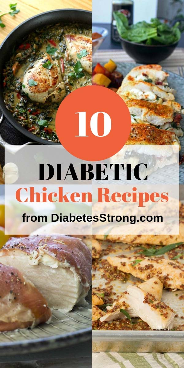 10 healthy diabetic chicken recipes. All of them are easy to make and taste amazing! Perfect for a quick and healthy low-carb dinner! #healthyeating #healthyrecipes #diabetesdiet #diabetesrecipe #diabeticdiet #diabeticfood #diabeticrecipe #diabeticfriendly #lowcarb #lowcarbdiet #lowcarbrecipes #chickenrecipes