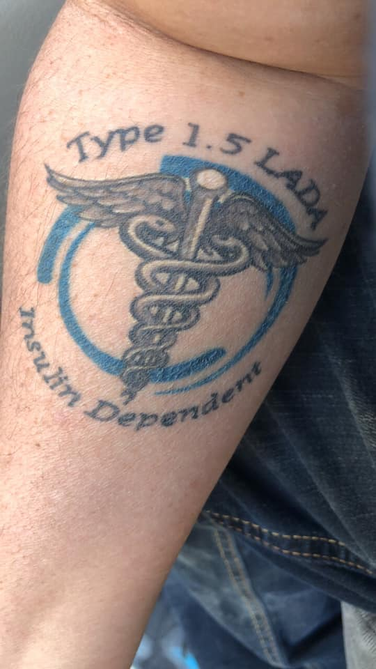 Insulin dependent tattoo