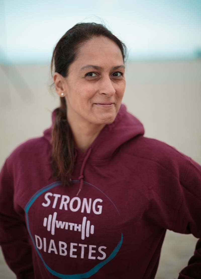 Christel in Strong WIth Diabetes hoodie