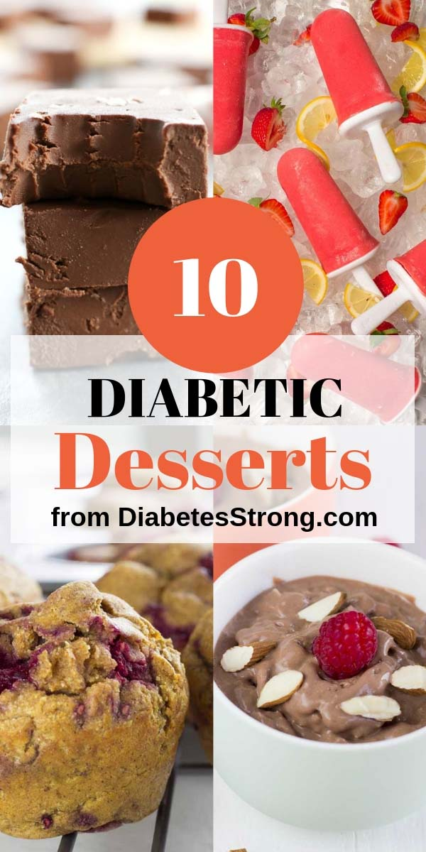 10 sugar-free low-carb & easy diabetic desserts that will satisfy your need for sweet, gooey, and chocolaty goodness. Cakes, ice creams, fudges, mousses, and crepes! #diabeticrecipes #diabeticdesserts #sugarfree #lowcarb #desserts