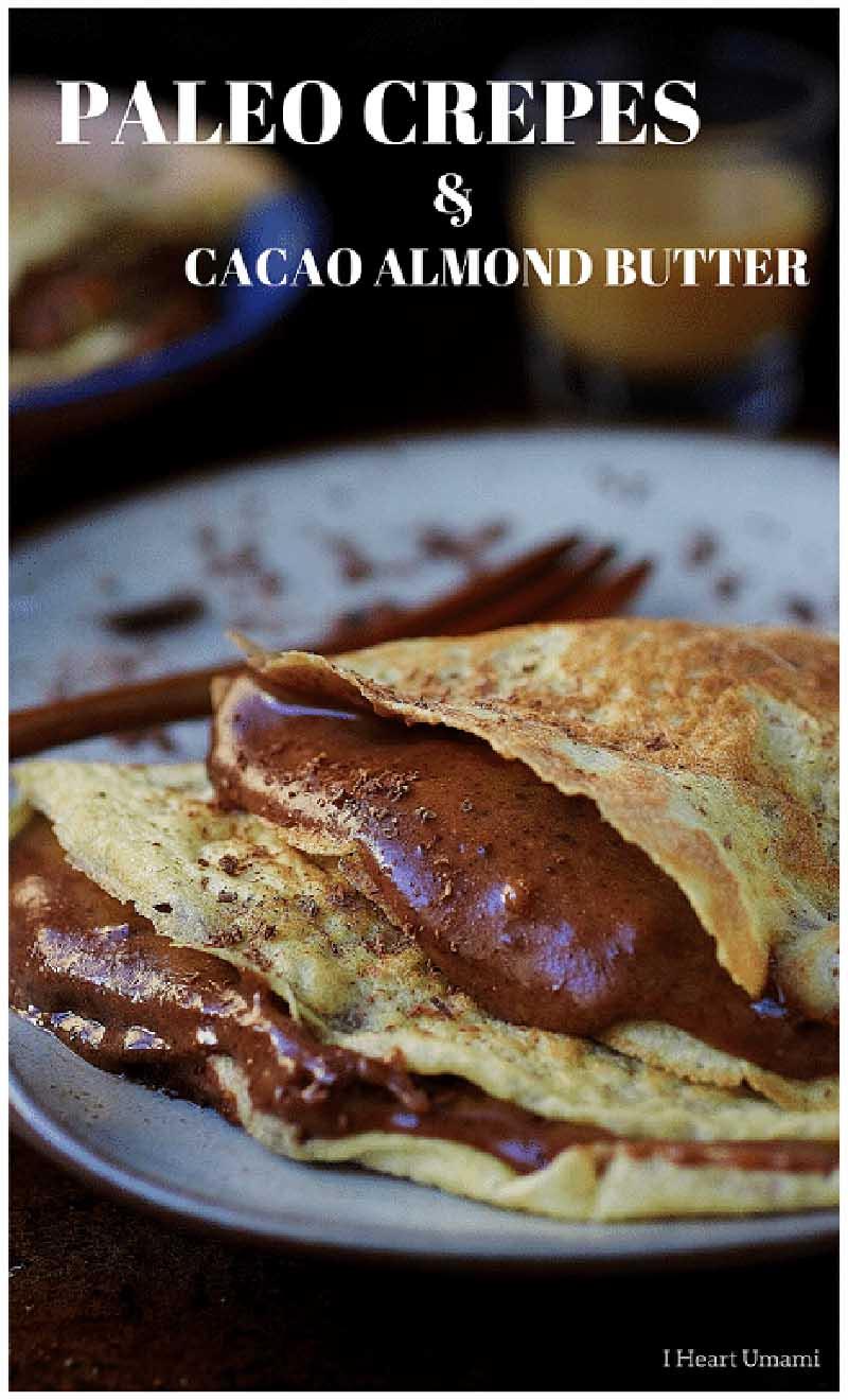 Paleo crepe with chocolate sauce