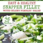 Snapper fillet with parsley and lemon