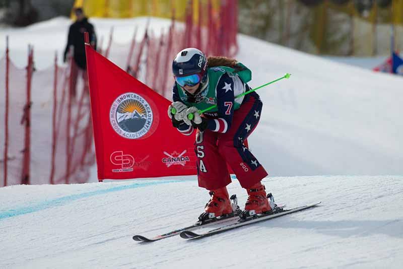 Lauren skiing