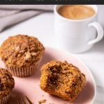 low carb carrot cake muffins Pinterest graphic
