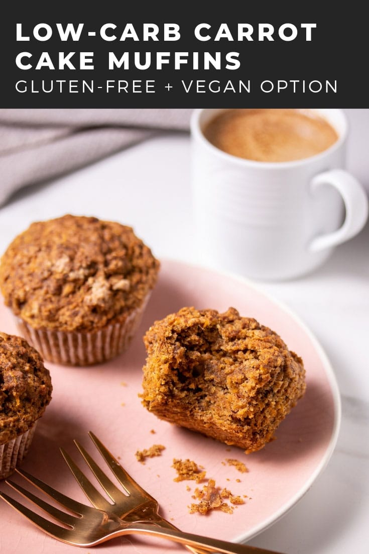 These healthy carrot cake muffins are low-carb, vegan, and gluten-free. Preparation is only a few minutes and they always come out fluffy and delicious!