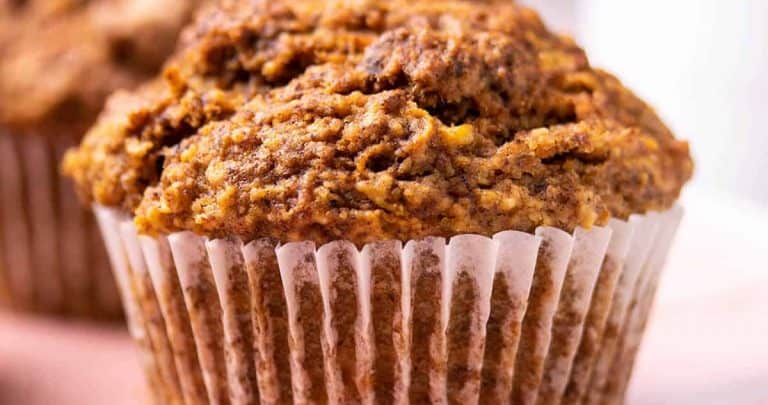 Close-up of a carrot cake muffin