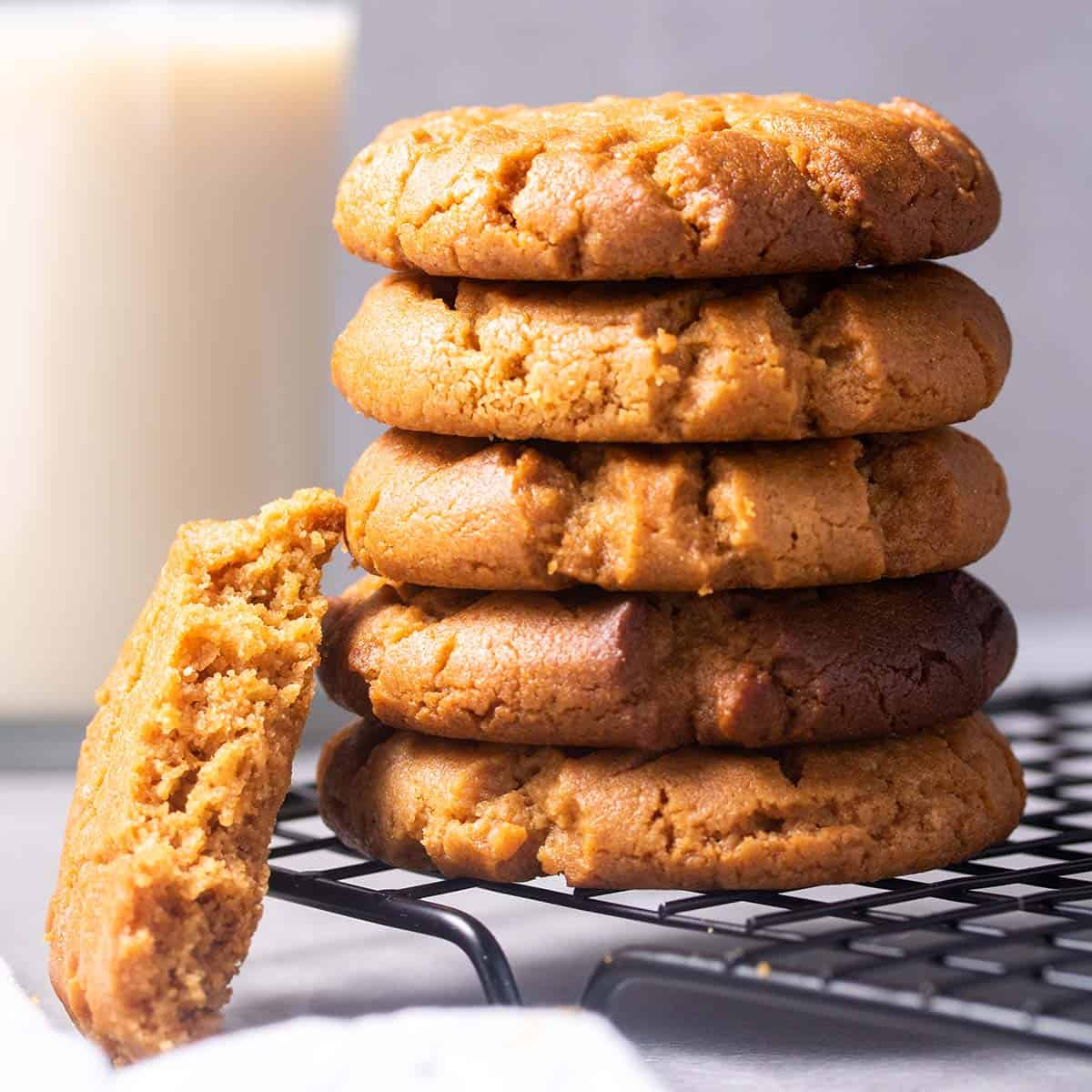 no sugar high protein diet peanut butter cookies