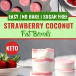 Strawberry coconut fat bombs