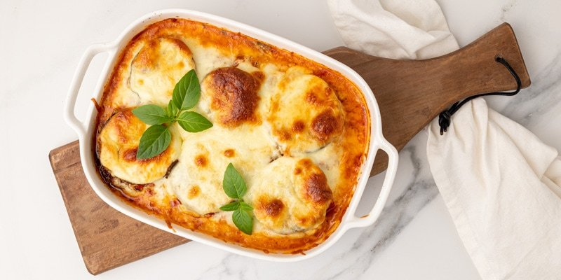 Featured image for the low carb eggplant parmesan