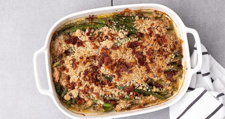Featured image for keto green bean casserole