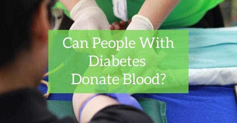 Can people with diabetes donate blood?