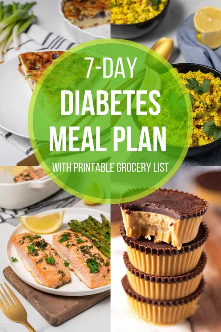 7 Day Diabetes Meal Plan With Printable Grocery List Diabetes