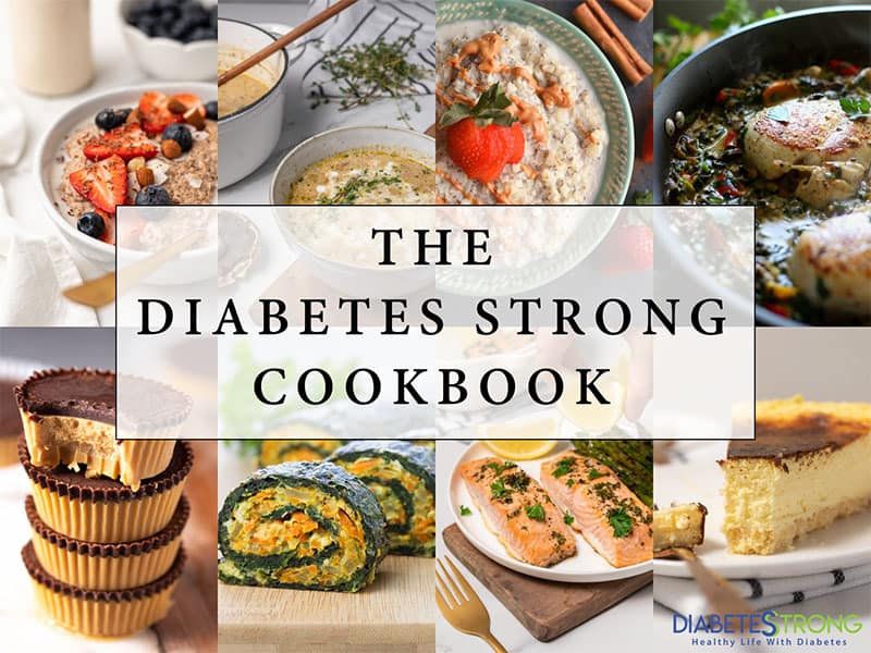 Front page of the Diabetes Strong cookbook