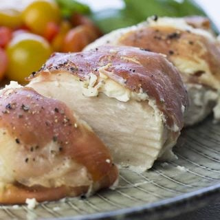 Prosciutto-wrapped chicken breast