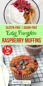 Healthy Pumpkin Raspberry Muffins