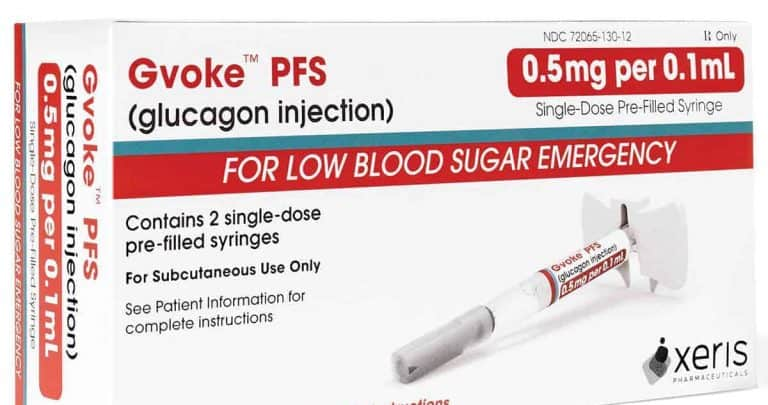 GVOKE prefilled glucagon syringes