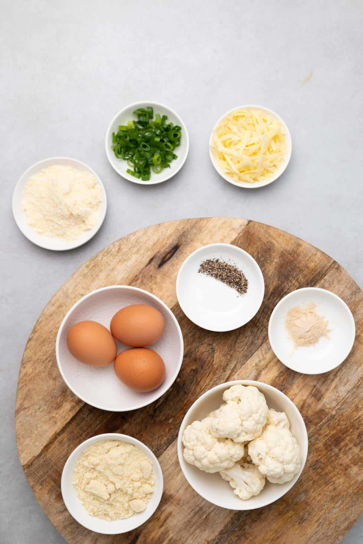 ingredients laid out on a wooden board