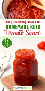Homemade keto tomato sauce