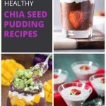 Collage of chia seed pudding images