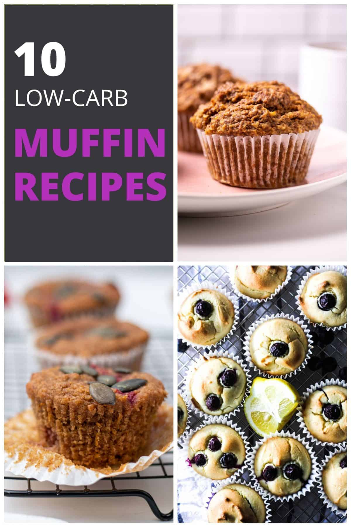10 low-carb muffin recipes pin