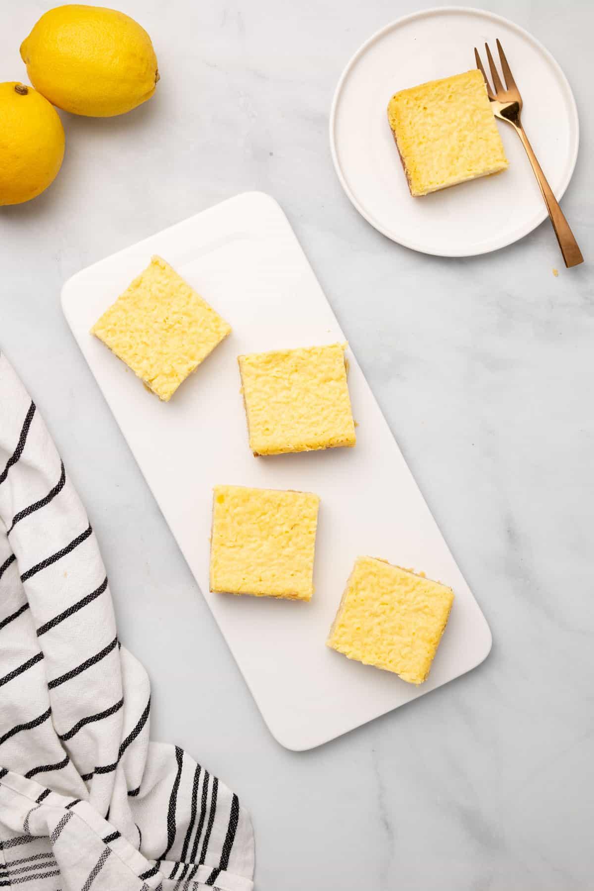 baked lemon bars ready to serve