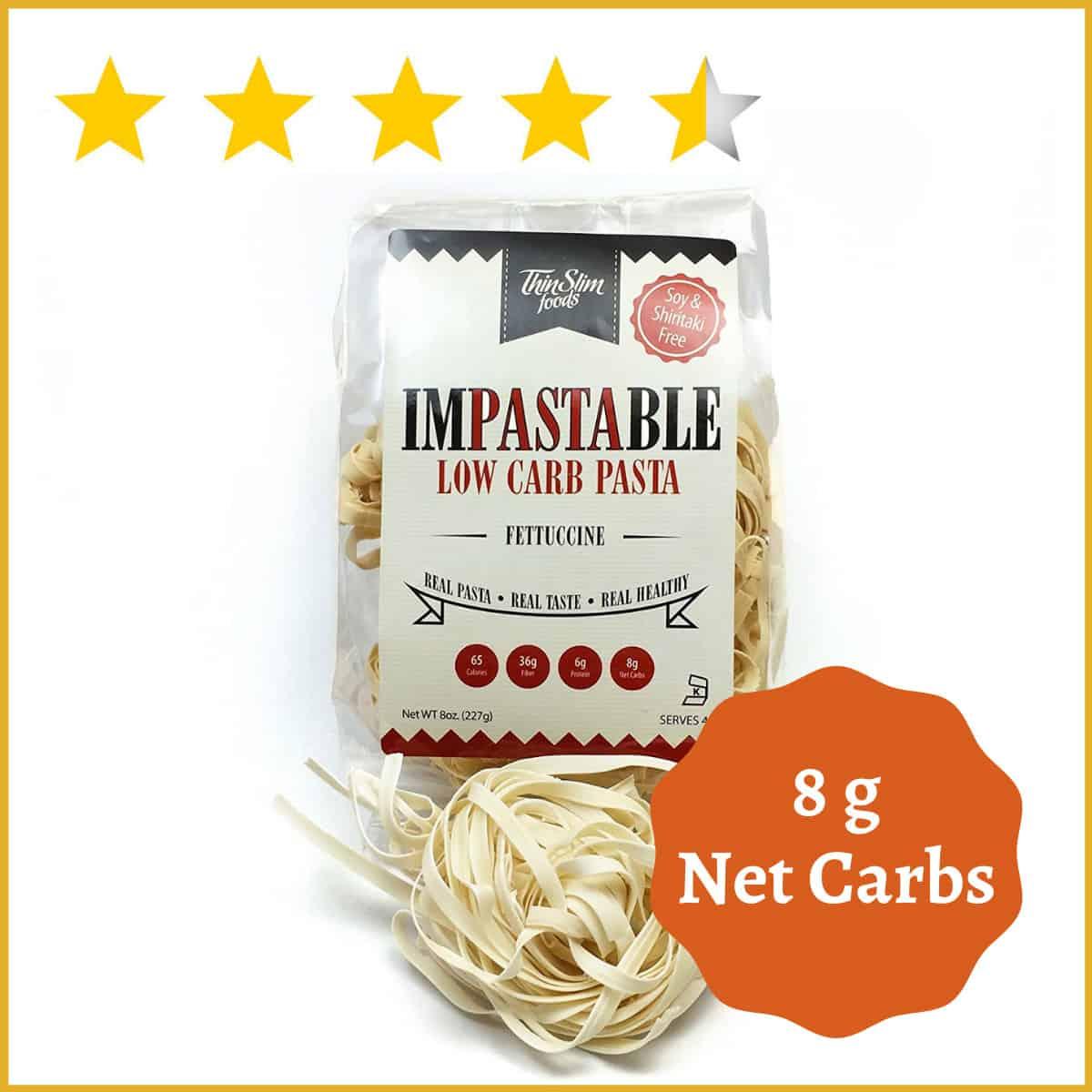 ThinSlim Foods Impastable Low Carb Pasta Fettuccine