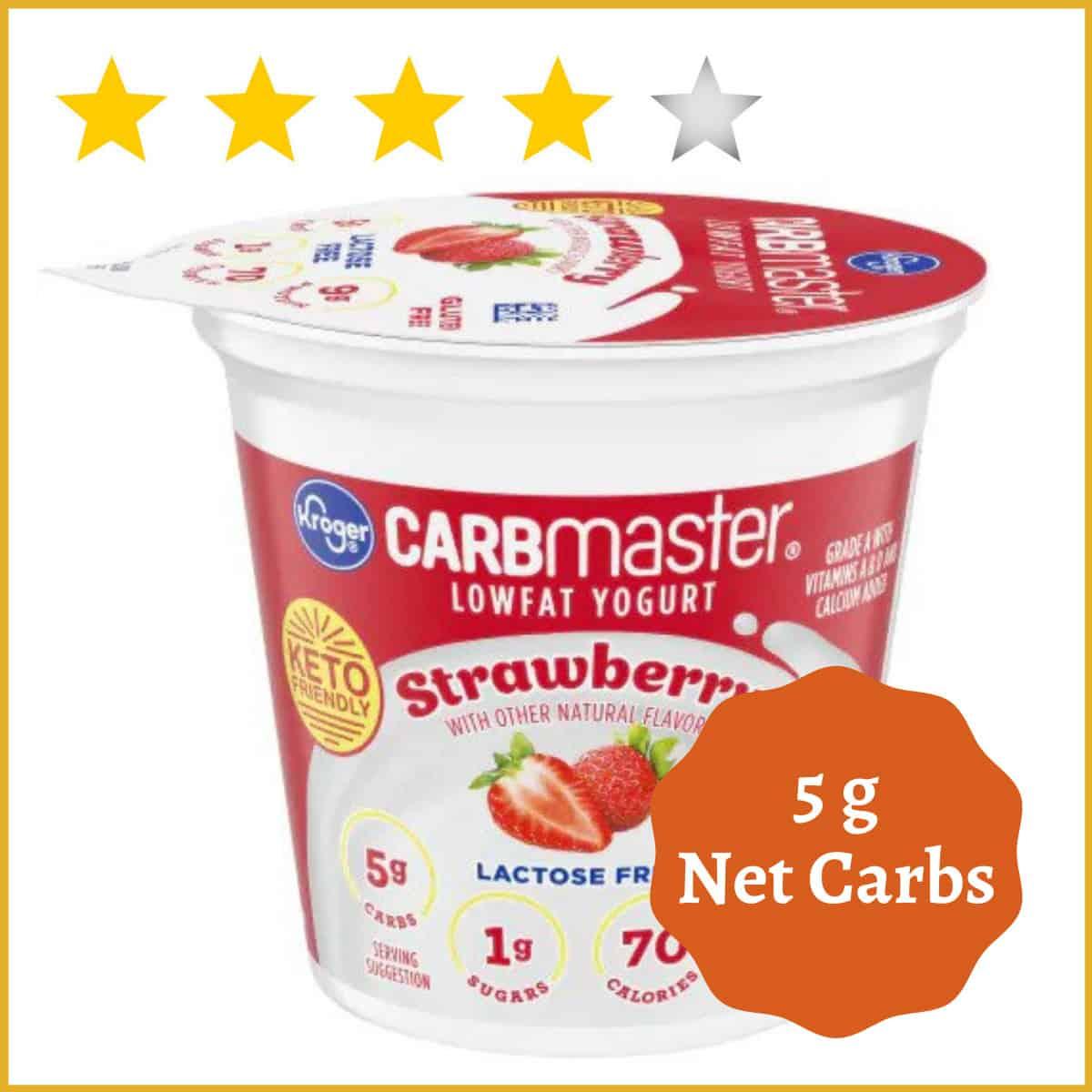 CarbMaster, Low Fat Yogurt, Strawberry