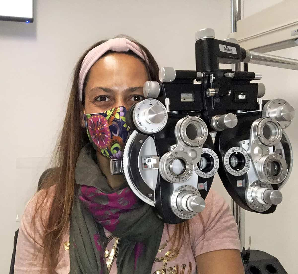 Christel at the eye doctor
