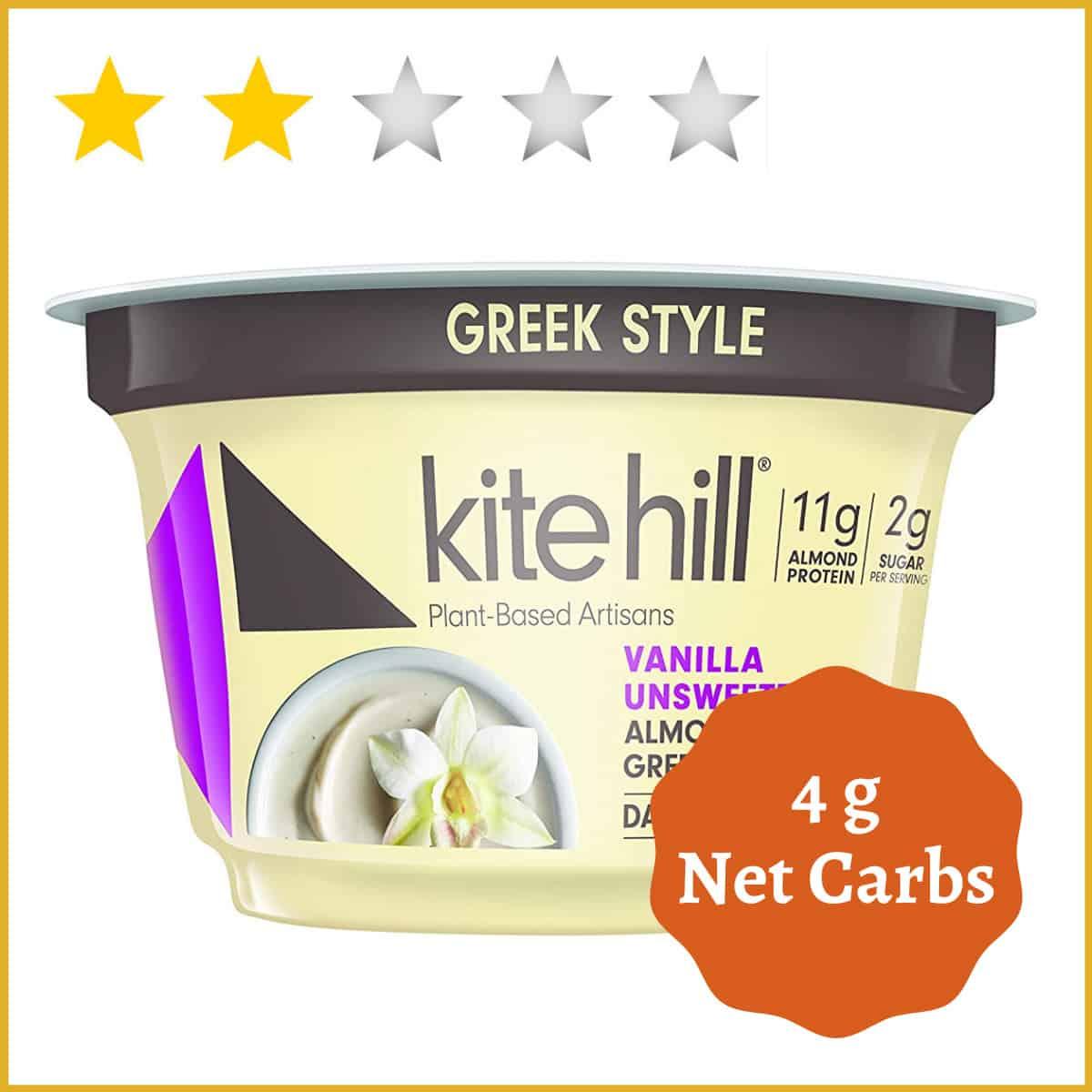 Kite Hill Vanilla Greek Style Almond Milk Yogurt