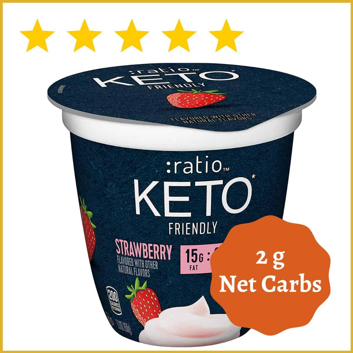 :ratio, KETO Friendly Dairy Snack, Strawberry