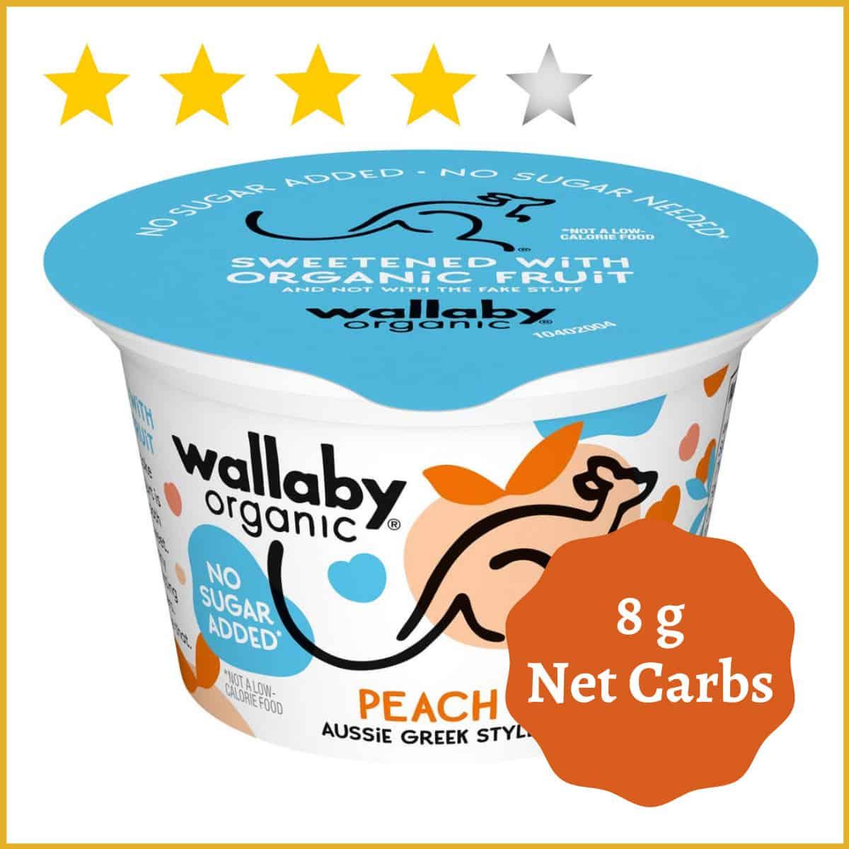Wallaby, Yogurt Aussie Greek Hibiscus Peach Organic