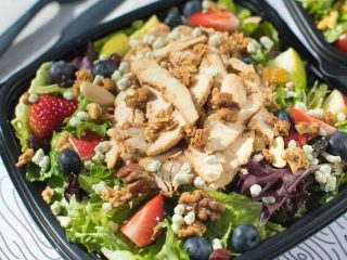 Salad from fast food restaurant